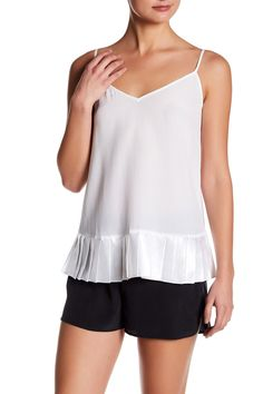 Layla Silk Pleated Hem Tank