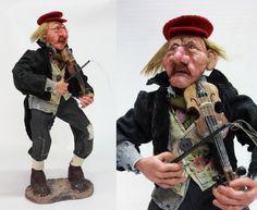 OOAK doll FIEDDLER BUSKER art doll handmade doll by LalkowniaDolls