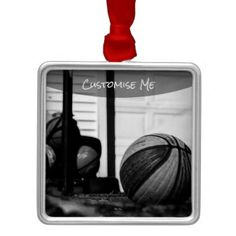 Basketballs Metal Ornament - home gifts ideas decor special unique custom individual customized individualized