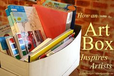 How an Art Box Can Inspire Artists www.hodgepodge.me including what is inside an art box, where to store it and how an art box can be a very practical answer for beating the mess