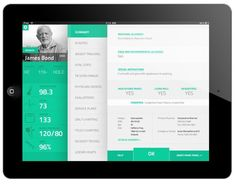 Green Dashboard - http://dribbble.com/shots/324409-Patient-SmartChart-app:
