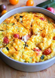 Zucchini and Tomato Frittata | 25+ Whole30 Breakfast Casseroles