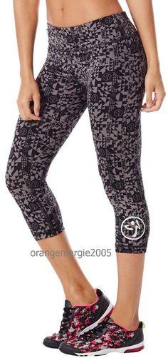 Official Zumba WearTribe Perfect Capri Leggings-Wide WaistBand FlattensTummy-S M #Zumba #PantsLeggingsCaprisCapri