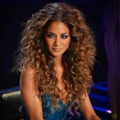 Nicole Scherzinger Inspired, Brazilian Remy Hair Extensions, Mermaid wave, Ombre Colour 4 to colour 10 Curly Hair With Bangs, Short Hair Updo, Curly Hair Tips, Long Curly Hair, Big Hair, Short Hair Styles, Night Hairstyles, Curled Hairstyles, Cool Hairstyles