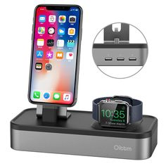Check Discount For Apple Watch Stand, USB Charger Stand for Apple Watch Series iPhone X/ 8 / 8 Plus/ 7 Plus Charger Dock Apple Watch Series 3, Docking Station, Phone Holder, 6s Plus, Iphone 8 Plus, Cell Phone Accessories, Charger, Iphone Cases, Iphone 7
