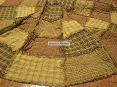 Christmas Tree Skirt Pattern Primitive Rag style