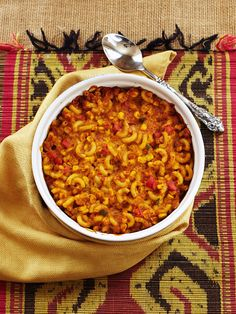 "Southwestern Mac and ""Cheese"" Recipe: Macaroni and ""cheese"" gets a kick with corn, peppers, black beans, and spices!"