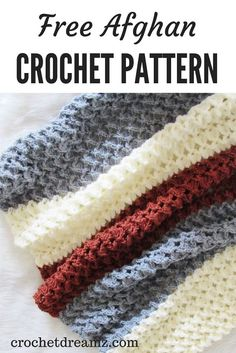 Crochet Afghans Patterns Free Crochet Afghan must try to figure how to increase on sides to change to shawl Pattern - Use this free crochet afghan pattern to make your most coveted home decor piece. The pattern has a beautiful texture that looks Crochet Afghans, Crochet Stitches Patterns, Tunisian Crochet, Diy Crochet, Baby Blanket Crochet, Crochet Blankets, Learn Crochet, Afghan Blanket, Crochet Ideas