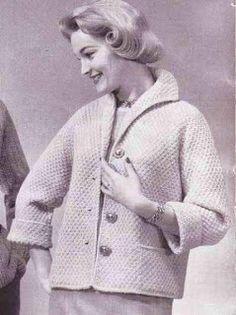 Awesome Monday: Ladies 1950's Box Coat, Vintage Knitting Pattern