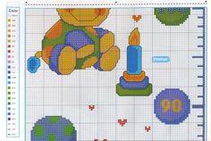 Ru / photo 43 - penelope 089 - height charts- x stitching д Height Chart, Cross Stitch Baby, Nursery Themes, Looney Tunes, Winnie The Pooh, Kids Rugs, Stitching, Motifs, Charts
