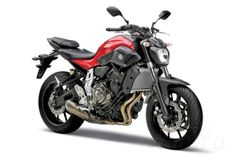 Yamaha MT-07 studio 3/4 view