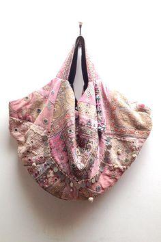 Shopping Bag Boho Palmira Handwoven old rose