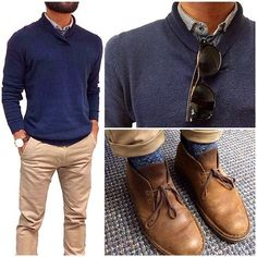 Today's fit | sweaters, socks and shades Renaming casual friday to comfort friday! Keeping warm during this LA winter in a sime pullover sweater, wool socks and chukkas. Keeping it simple for comfort while I try to finish Xmas shopping. Wish me luck! Haha