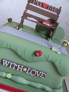Park Bench Anniversary cake by The Designer Cake Company, via Flickr