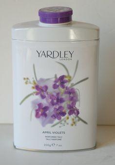 New Yardley London April Violets Perfumed Talc Bath Powder | eBay