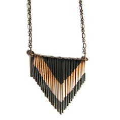 Fab.com | Copper Multi V Necklace Small