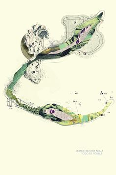 Topographic Tales from Imagination by Andres Valerio, via Behance