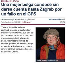 Una mujer belga conduce sin darse cuenta hasta Zagreb por un fallo en el GPS