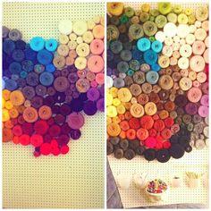 Brilliant Yarn Storage Idea - Peg Board