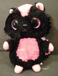 "6"" Pink Black YOOHOO SKUNK W Sound Aurora Soft Plush Stuffed Animal Toy"