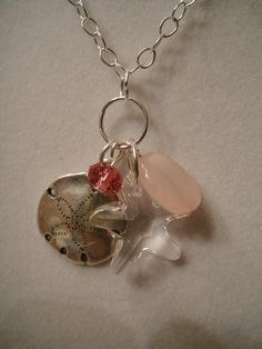 Pink sand Beach Inspired necklace