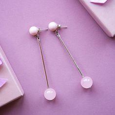 Серги из новой коллекции - серебро, розовый кварц, #swarovskipearls  #ювелирочка #девочкипоймут #krylovdesign #krylovflora #krylovflora