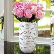 Vase livre d'or mariage