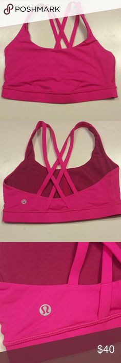 NWOT Lululemon Energy Bra in Pow Pink NWOT Lululemon Strappy Energy Bra in the color Pow Pink Size 8 Comes from a pet free/smoke free home lululemon athletica Tops