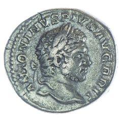 Caracalla Denar Silber, Av: ANTONINVS PIVS AVG BRIT, belorbeerte Büste nach rechts, Rv: MARTI PACATORI, Mars mit Zweig, Schild und Lanze nach links