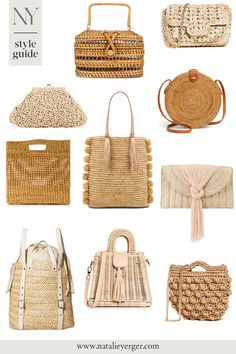 The Best Natural Handbags Under $200 | Raffia bags, straw crossbody bags, woven circle bag, and more #wovenbag #springhandbag #strawbag Woven Bags, Spring Fashion Trends, Summer Bags, Little Bag, Cloth Bags, Crochet Motif, Textiles, Fashion Bags, Straw Bag