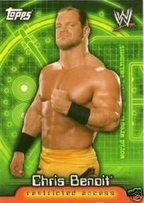Chris Benoit WWE 2006 Topps Insider Card