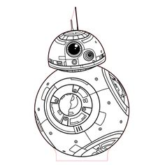 BB8 3d illusion lamp plan vector file for CNC - 3bee-studio