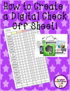 Sharing Kindergarten: I Have FINALLY Found it! How to create a fully digital check-off-sheet  using Evernote