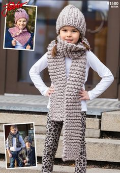 Cool kids accessories. Knit them with our super-bulky yarn Elvira. Why not try our brand new glitter colors?