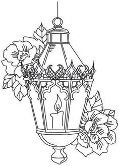 T T Lantern candle flowers:pergamano - Page creative designs and tutorials for machine and hand embroidery.how to embroidery Christmas Coloring Pages, Coloring Book Pages, Paper Embroidery, Embroidery Patterns, Christmas Colors, Christmas Art, Illustration Noel, Wood Burning Patterns, Parchment Craft