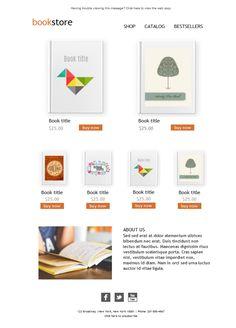 De papel o en formato electrónico. Los buenos libros nunca pasan de moda. Ofrece tus últimas ediciones con estas plantillas para tu campaña de mailing. Plantillas para Pc y móvil.