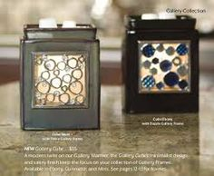 """Scentsy Gallery Warmers """"Cube Moss"""" and """" Cube Ebony"""" Gallery Cube warmers. Gallery is the perfect setting for your collection of frames, with elegant lines and eye-catching light."""