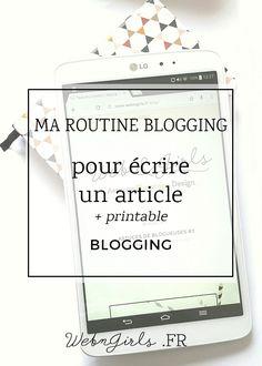 Écrire un article : ma routine blogging