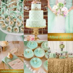 Mint and Gold Wedding | #exclusivelyweddings