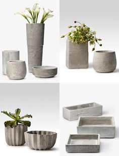 concrete planters i bet i could figure out how to do this