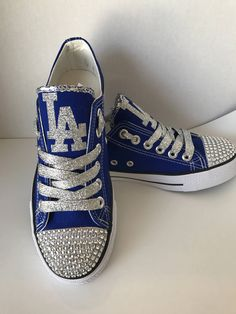 4741bfc41567 Los Angeles Dodgers Bling Glitter Tennis Shoes