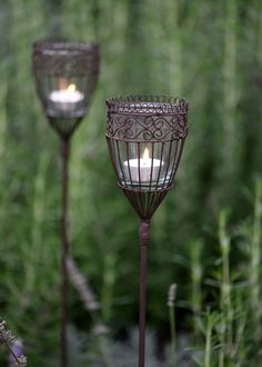 Oil Lamp Garden Stakes. $15 Available At Pier1.com · Oil Lamp Garden Stakes  Kaboodle.com | ☼ NATURE: Garden U0026 Flower Stakes | Pinterest | Gardens, ...