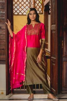 Exclusive Indian ethnic silhouettes designed with hand block printed mughal and floral motifs and made with carefully selected organic fabrics. Anarkali Churidar, Anarkali Dress, Anarkali Suits, Salwar Kameez, Patiyala Dress, Designer Salwar Suits, Maroon Color, Indian Ethnic Wear, Peach Colors