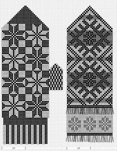 Mustrilaegas: A Kudumine / Knitting Knitted Mittens Pattern, Fair Isle Knitting Patterns, Knitting Charts, Knit Mittens, Knitting Stitches, Mitten Gloves, Knitting Patterns Free, Knitting Socks, Norwegian Knitting