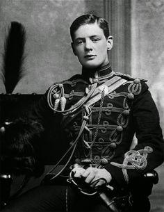 A young dashing Winston Churchill (1890s)