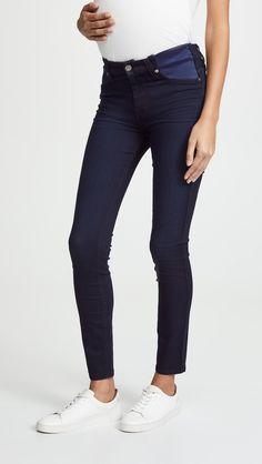 0d7c44d19c3de Maternity Full Panel Skinny Jean, Women's, Size: Medium, White in ...