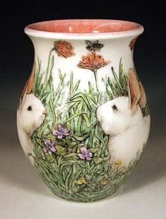Bunny Vase by Nan Hamilton