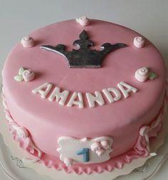 Homemade by MI: Amandan prinsessainen 1-vuotiskakku