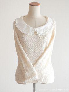 LIZ LISA Autumn Winter Large Collar Blouse OP Dress Hime Gyaru Lolita Sz0 Japan #LIZLISA #Blouse #Casual