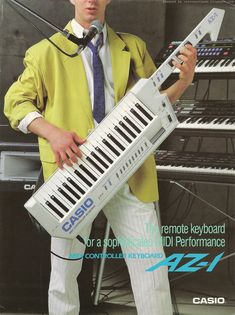 Not sure which I like more: the blazer or the keytar.